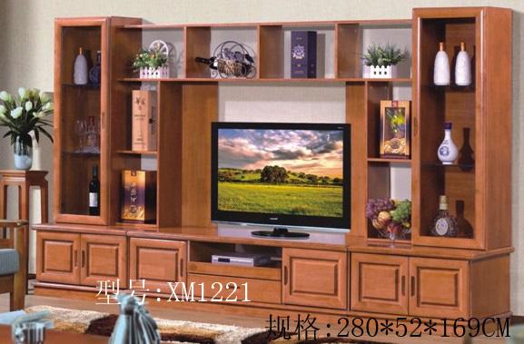 美丽华 家具系列 客厅家具 地柜电视柜     型号:橡木组合柜xm1216